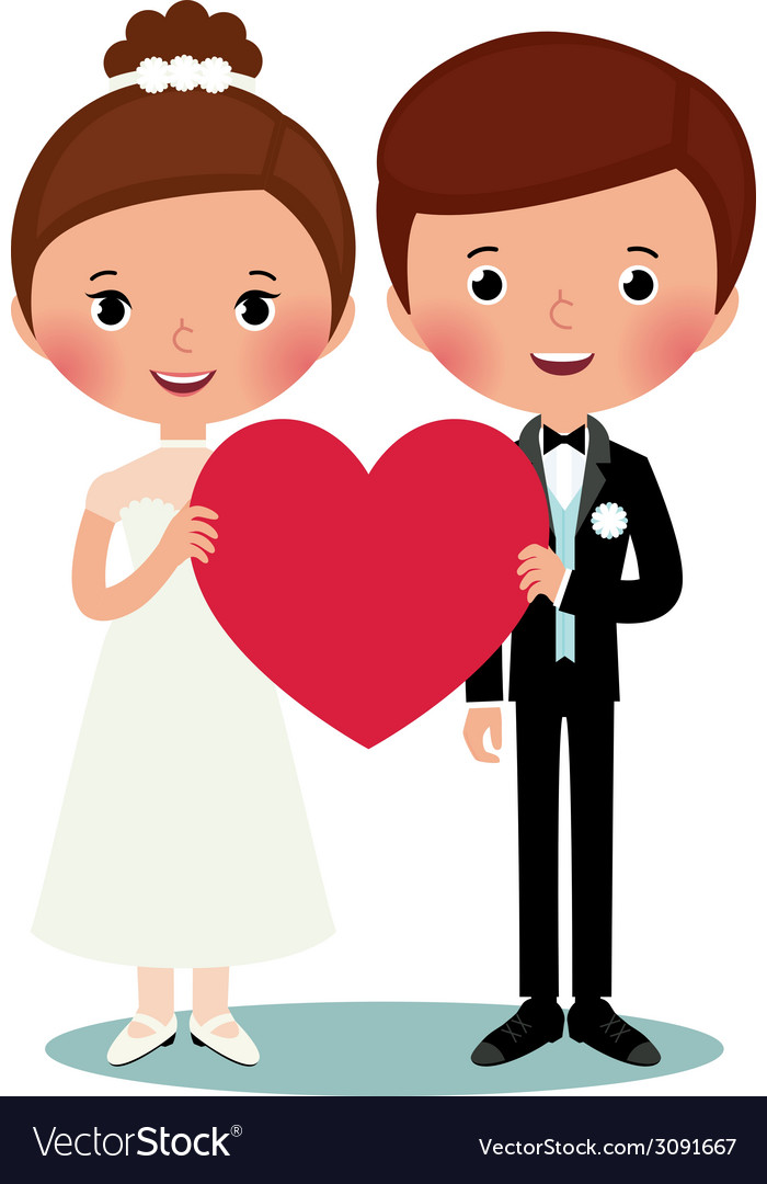 Groom and bride vector | Price: 1 Credit (USD $1)