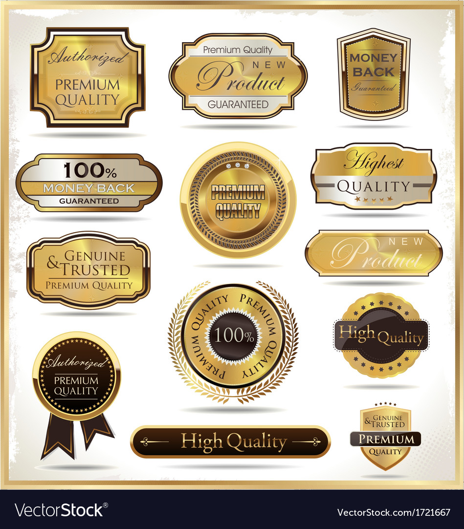 Luxury golden labels vector | Price: 1 Credit (USD $1)