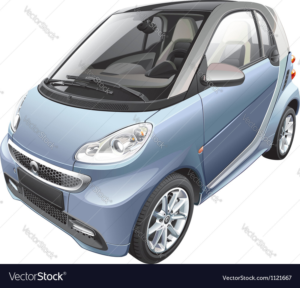 Modern subcompact car vector | Price: 5 Credit (USD $5)
