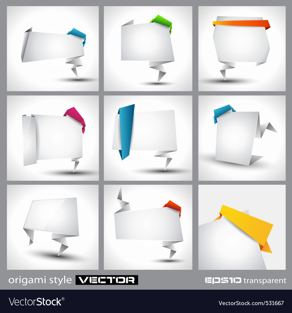 Origami icons vector   Price: 1 Credit (USD $1)