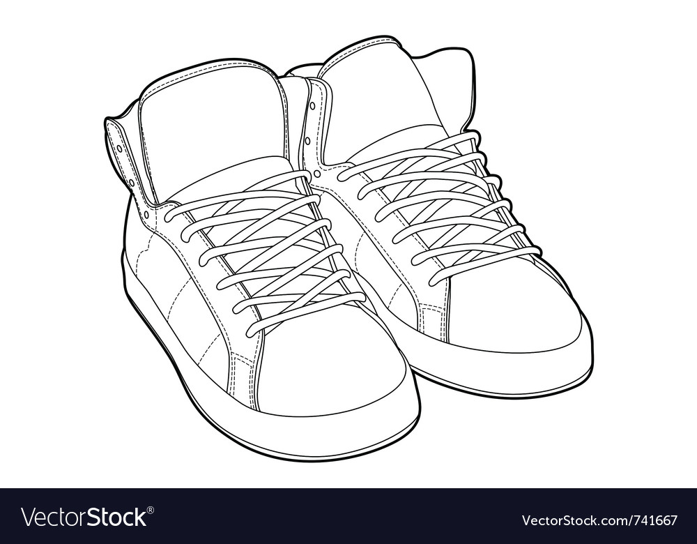 Outline shoes vector | Price: 1 Credit (USD $1)