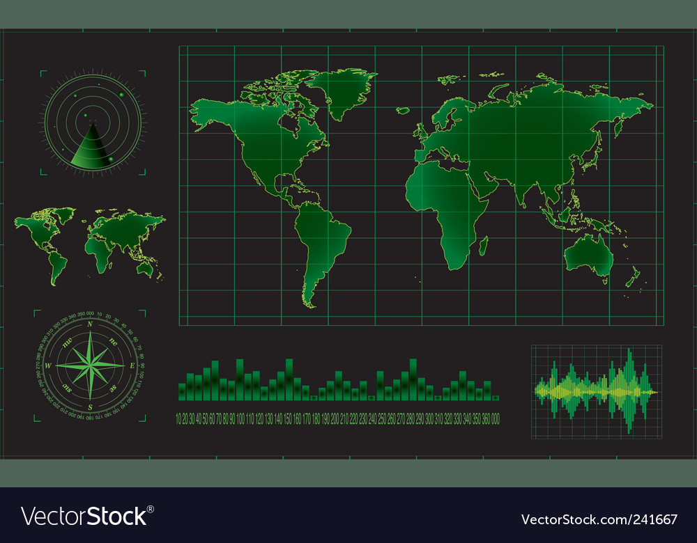 Radar screen vector | Price: 1 Credit (USD $1)