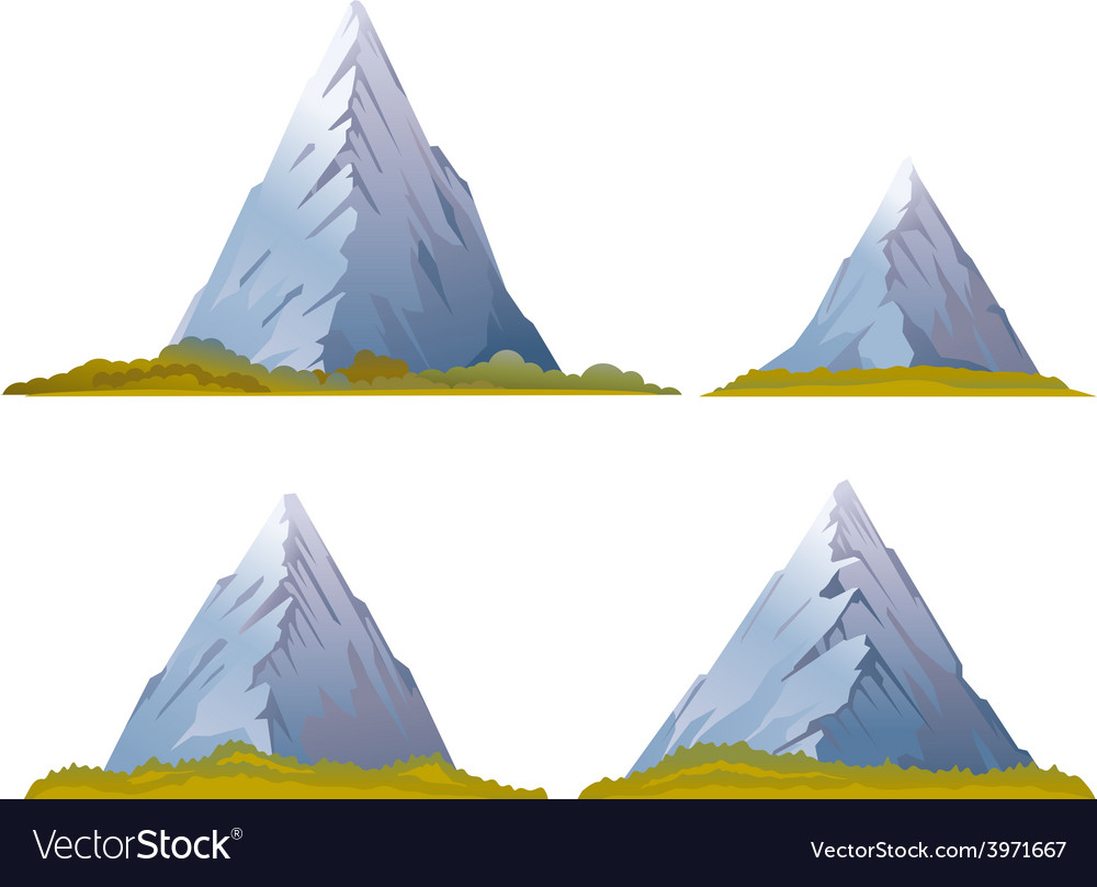 Set of mountains vector   Price: 1 Credit (USD $1)
