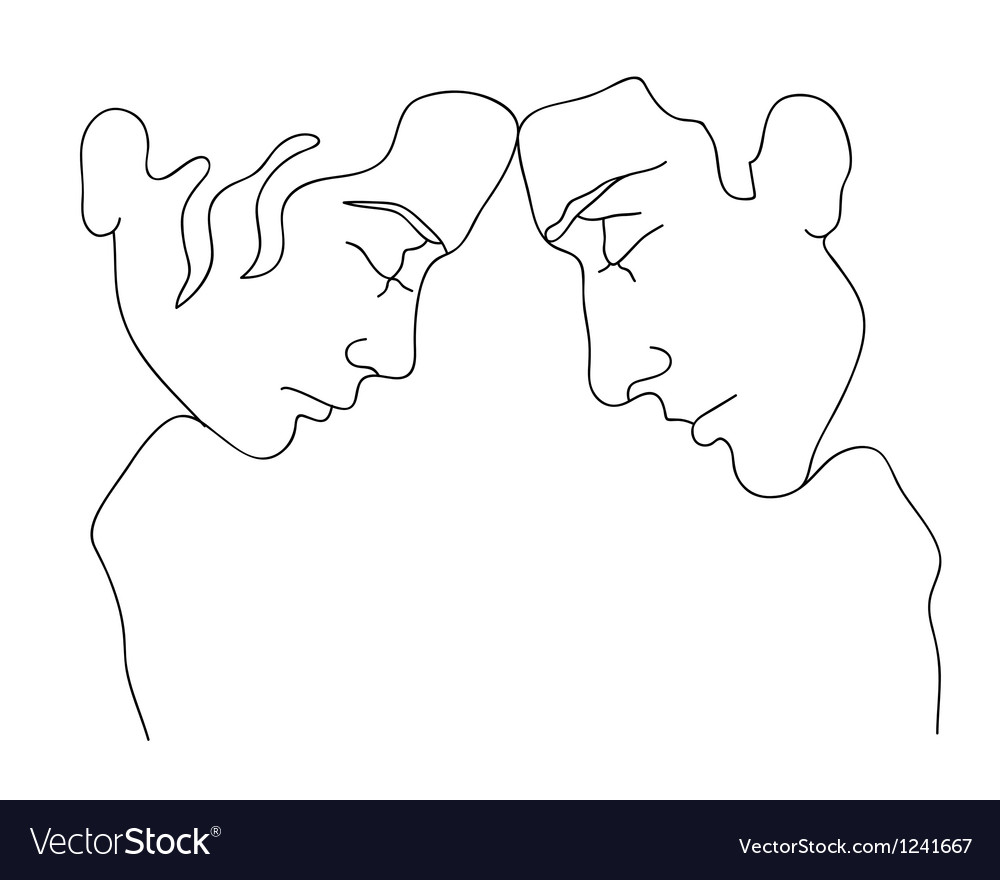 Silhouettes of man and woman vector | Price: 1 Credit (USD $1)