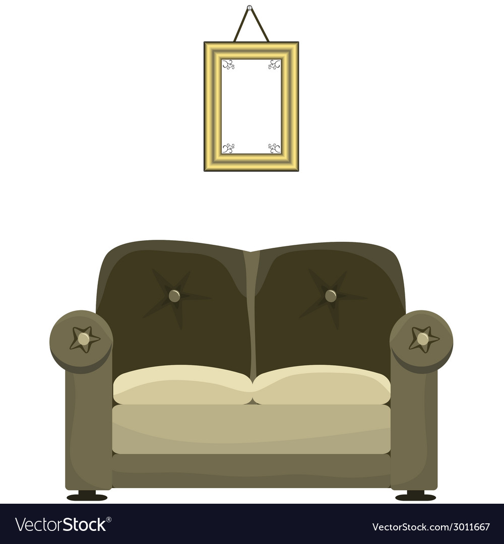 Sofa and painting vector | Price: 1 Credit (USD $1)