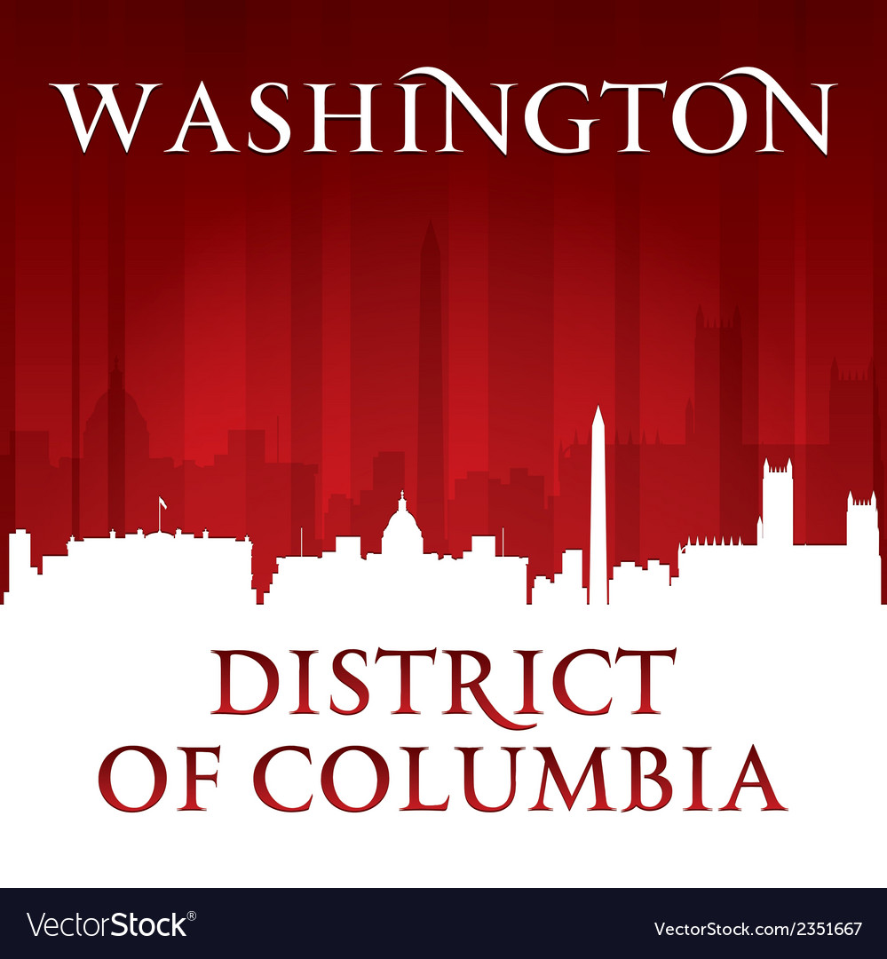 Washington dc city skyline silhouette vector | Price: 1 Credit (USD $1)