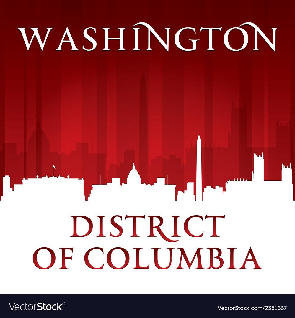 Washington dc city skyline silhouette vector | Price: 1 Credit (USD $1)