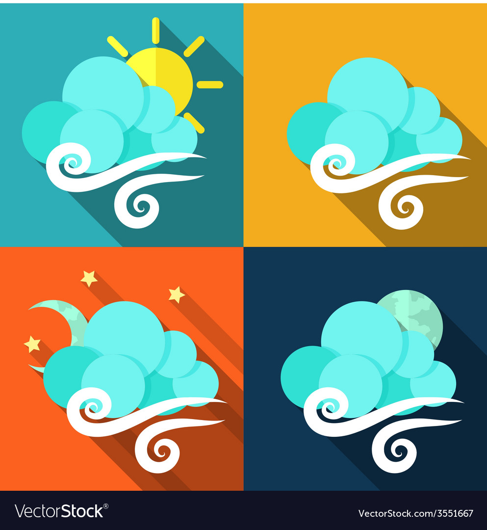 Weather icons set - vector | Price: 1 Credit (USD $1)