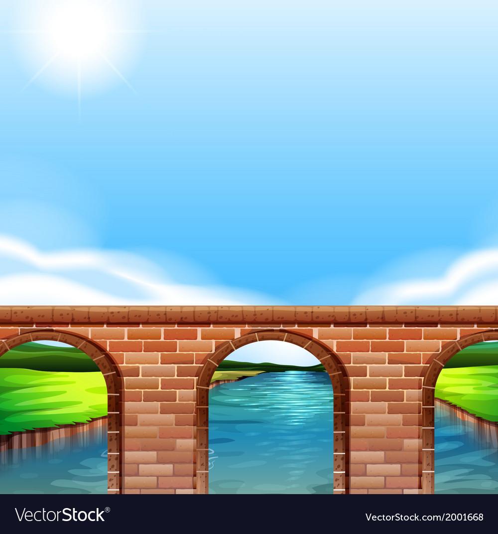 A bridge under the bright sun vector | Price: 1 Credit (USD $1)