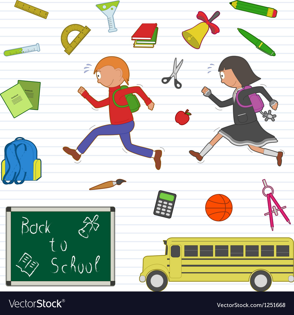 Back to school clipart set vector | Price: 1 Credit (USD $1)