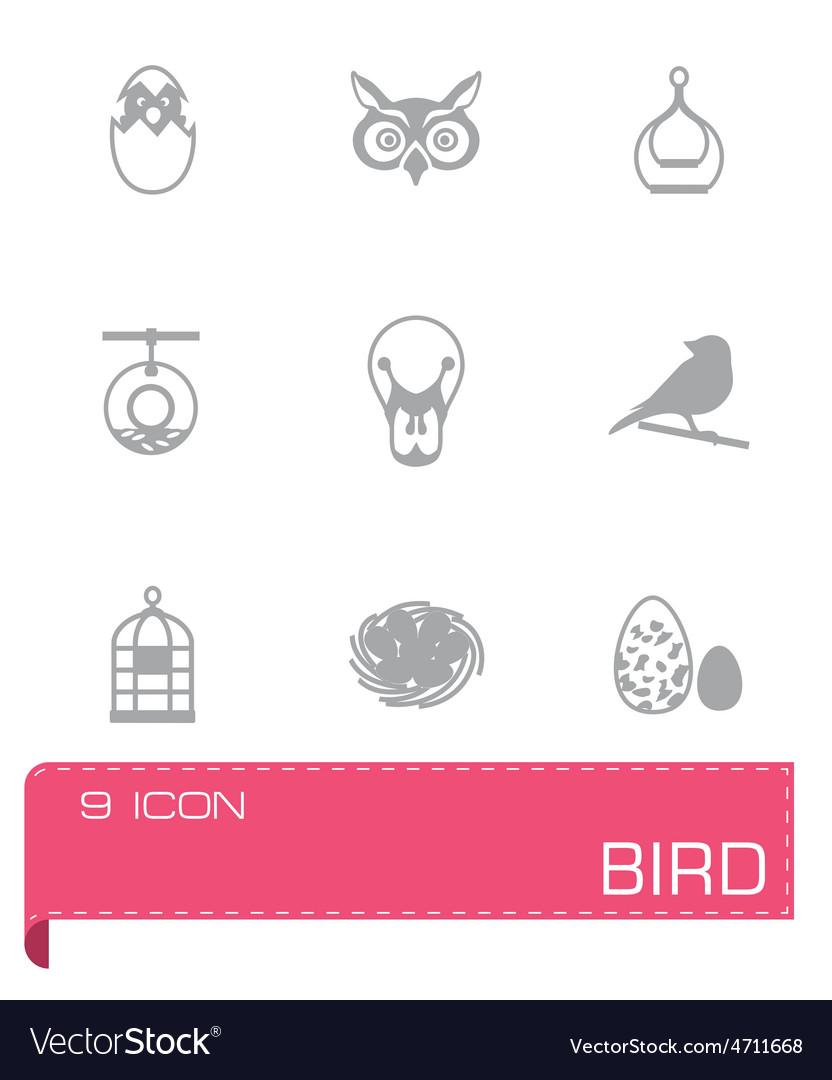 Bird icon set vector   Price: 1 Credit (USD $1)