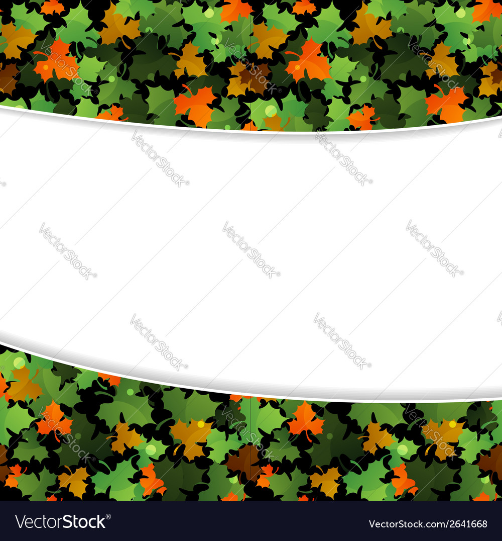 Fallen leaves vector | Price: 1 Credit (USD $1)