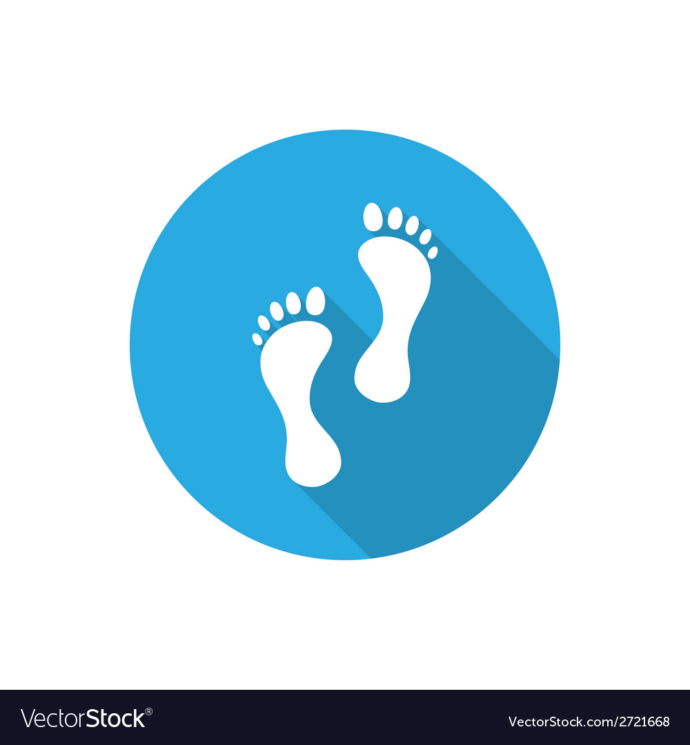 Footprints vector | Price: 1 Credit (USD $1)