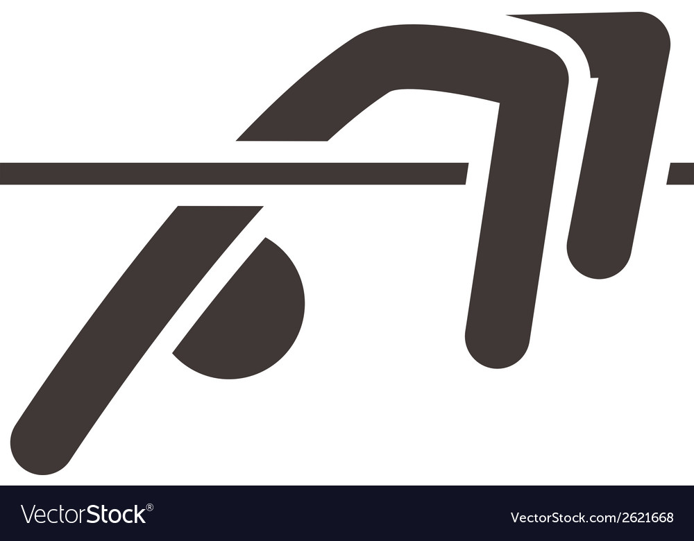 High jump icon vector | Price: 1 Credit (USD $1)