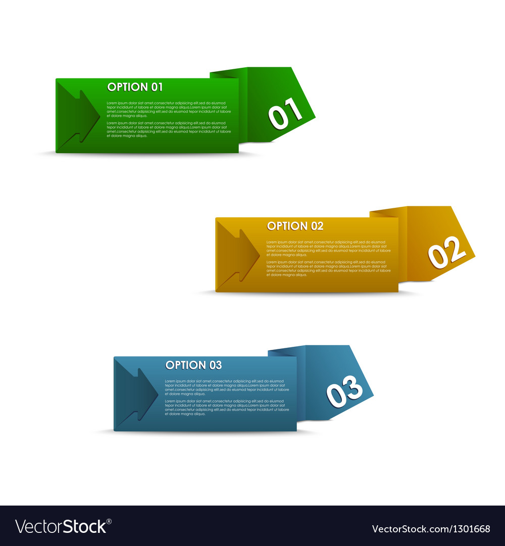 Horizontal of colorful paper options vector   Price: 1 Credit (USD $1)