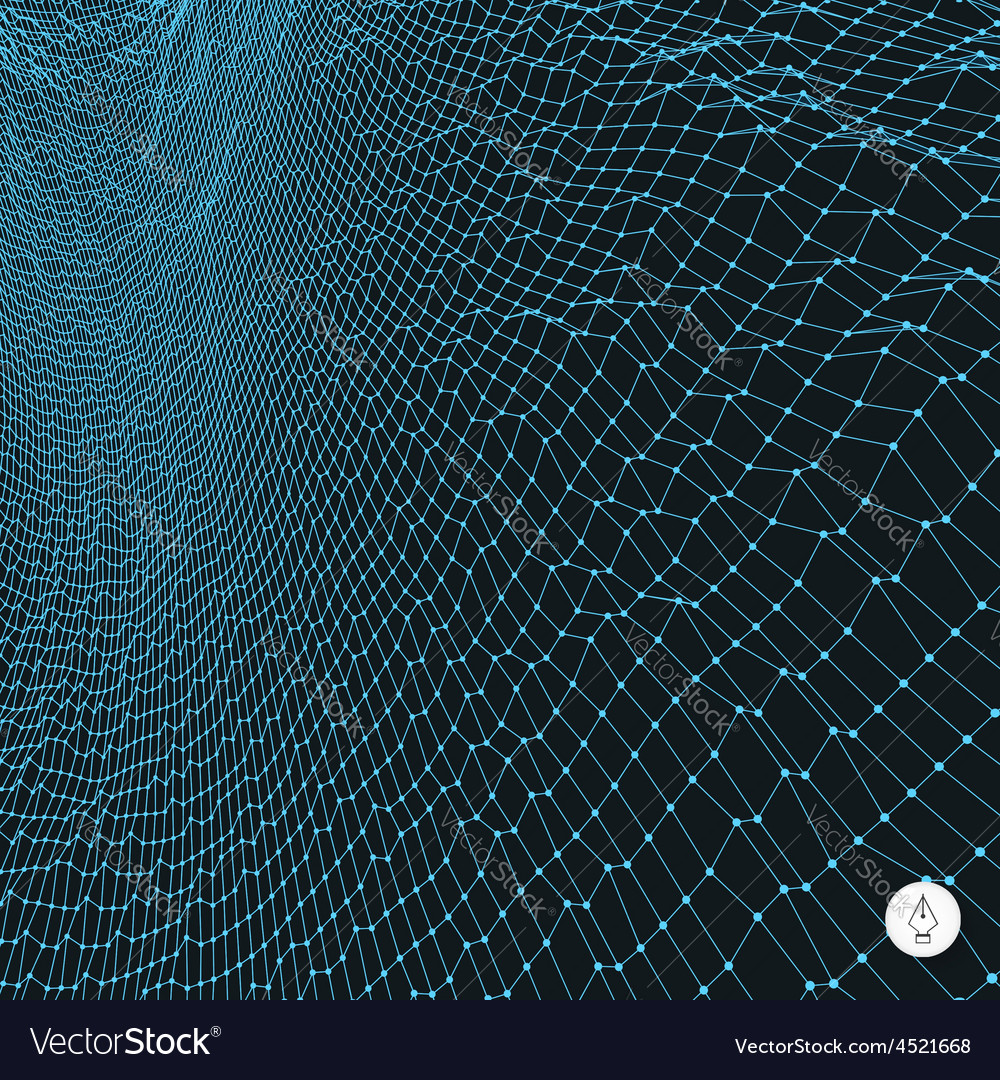 Network abstract background 3d technology vector | Price: 1 Credit (USD $1)