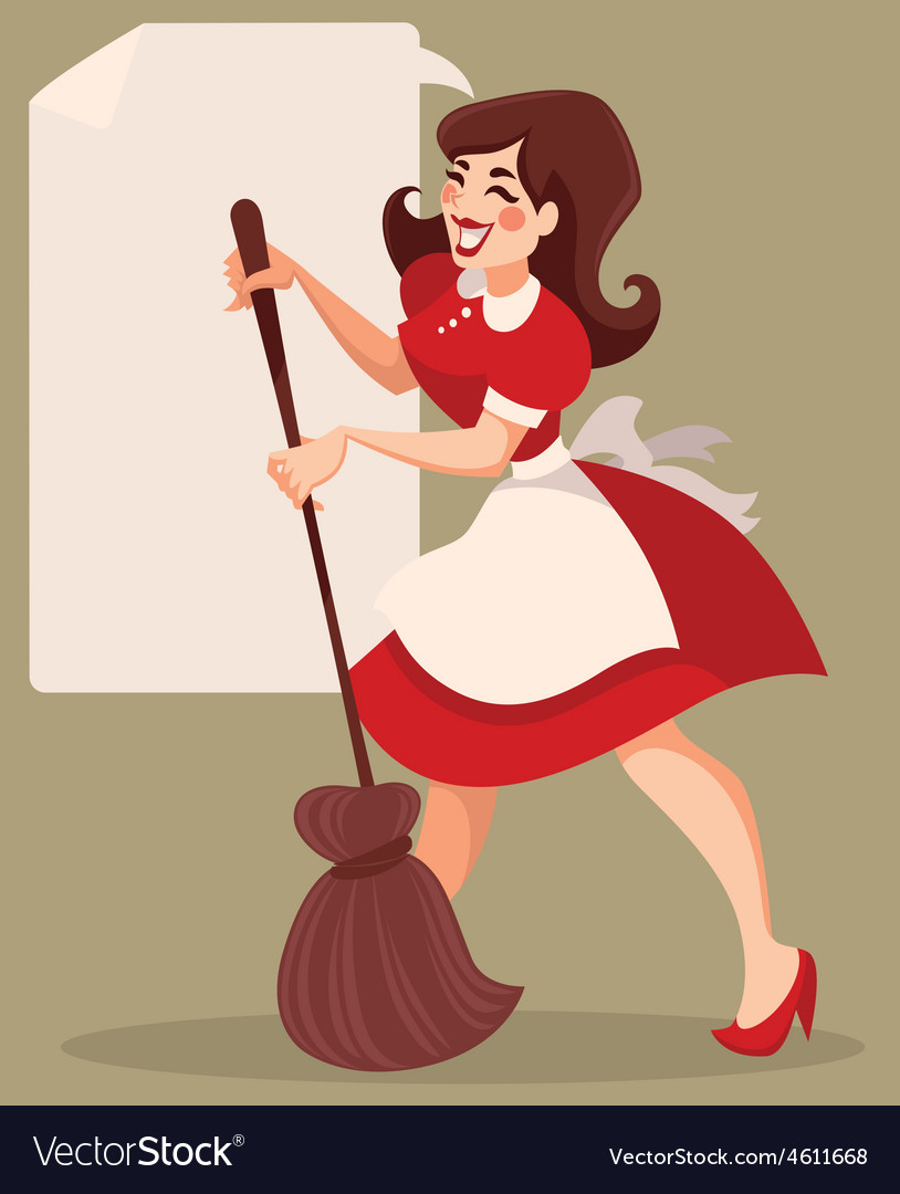Retro cleaning vector | Price: 1 Credit (USD $1)