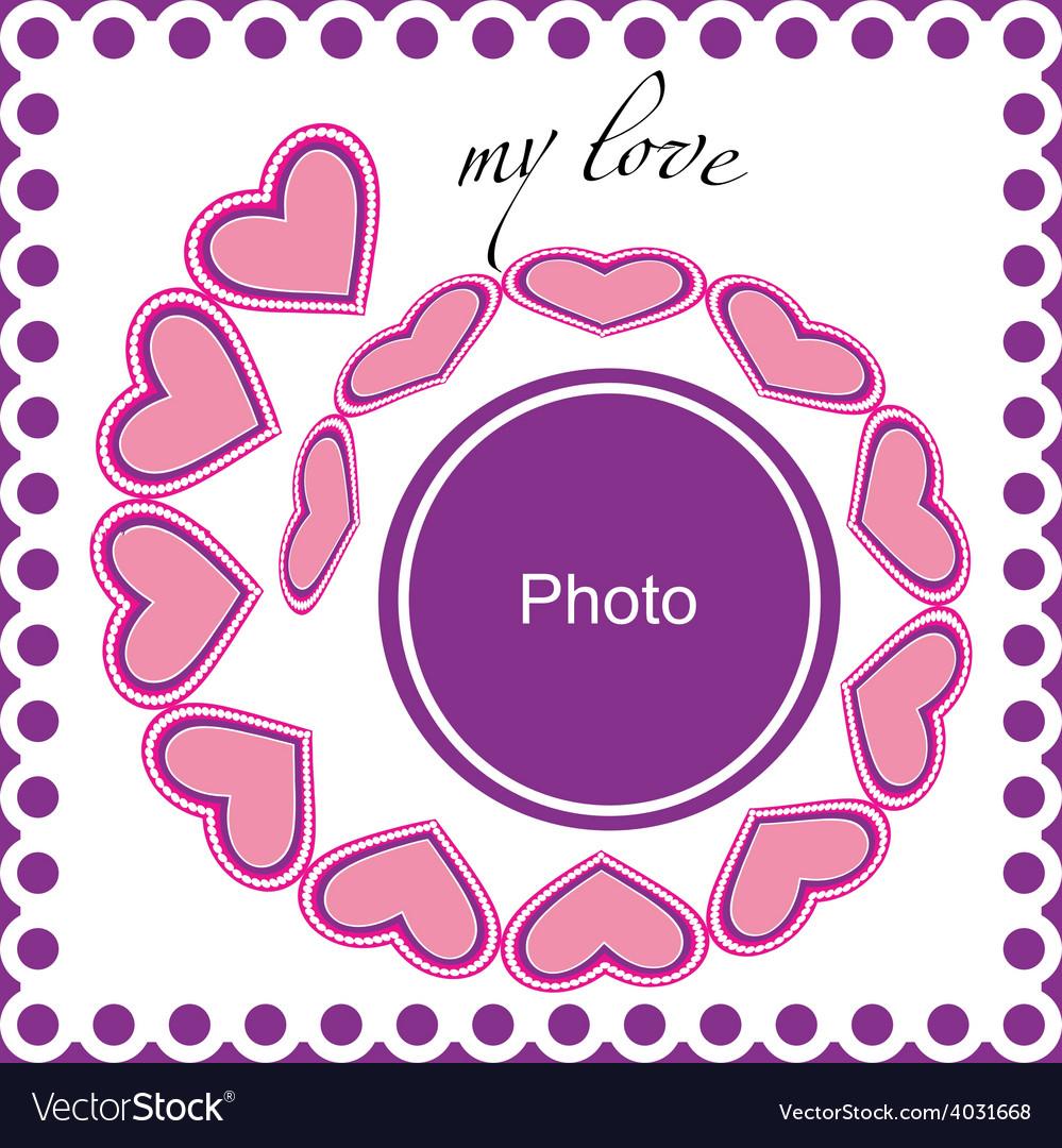 Romantic photo frame vector | Price: 1 Credit (USD $1)