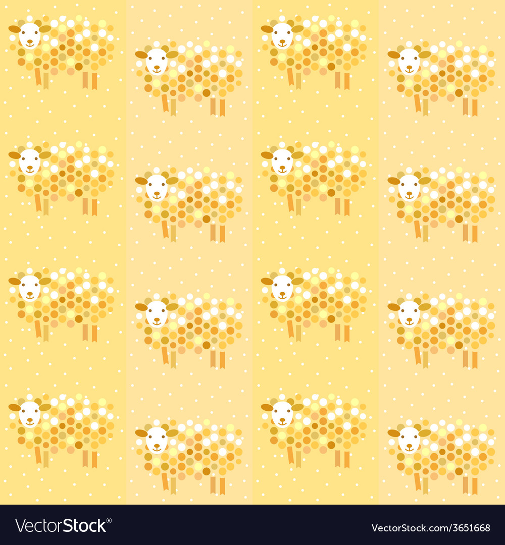 Seamless christmas background symbol of the year vector   Price: 1 Credit (USD $1)