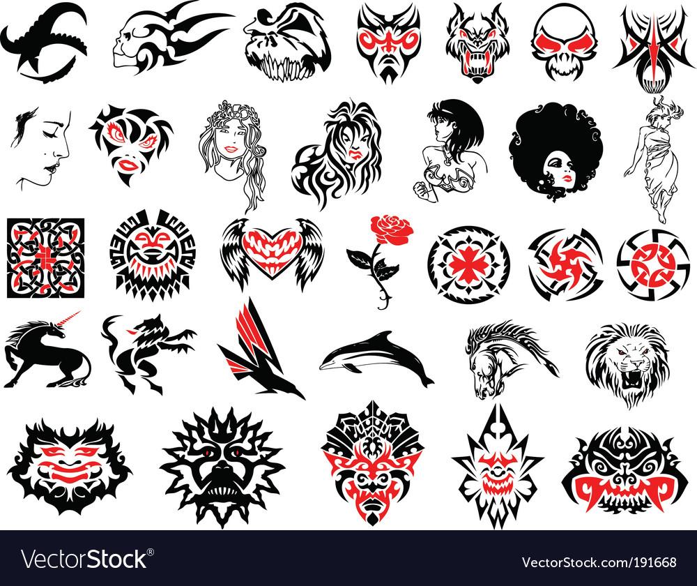 Tattoos vector | Price: 1 Credit (USD $1)