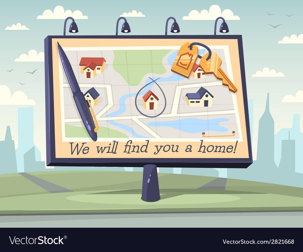 We will find you a home vector | Price: 1 Credit (USD $1)