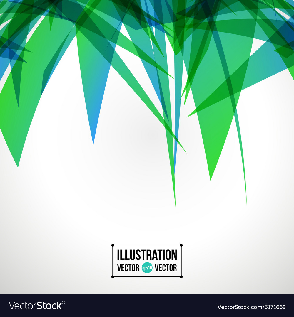 Abstract background of green fragments vector | Price: 1 Credit (USD $1)