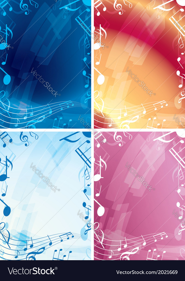 Abstract music backgrounds  set of frames vector
