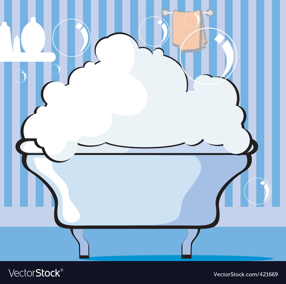 Bath tub vector | Price: 1 Credit (USD $1)