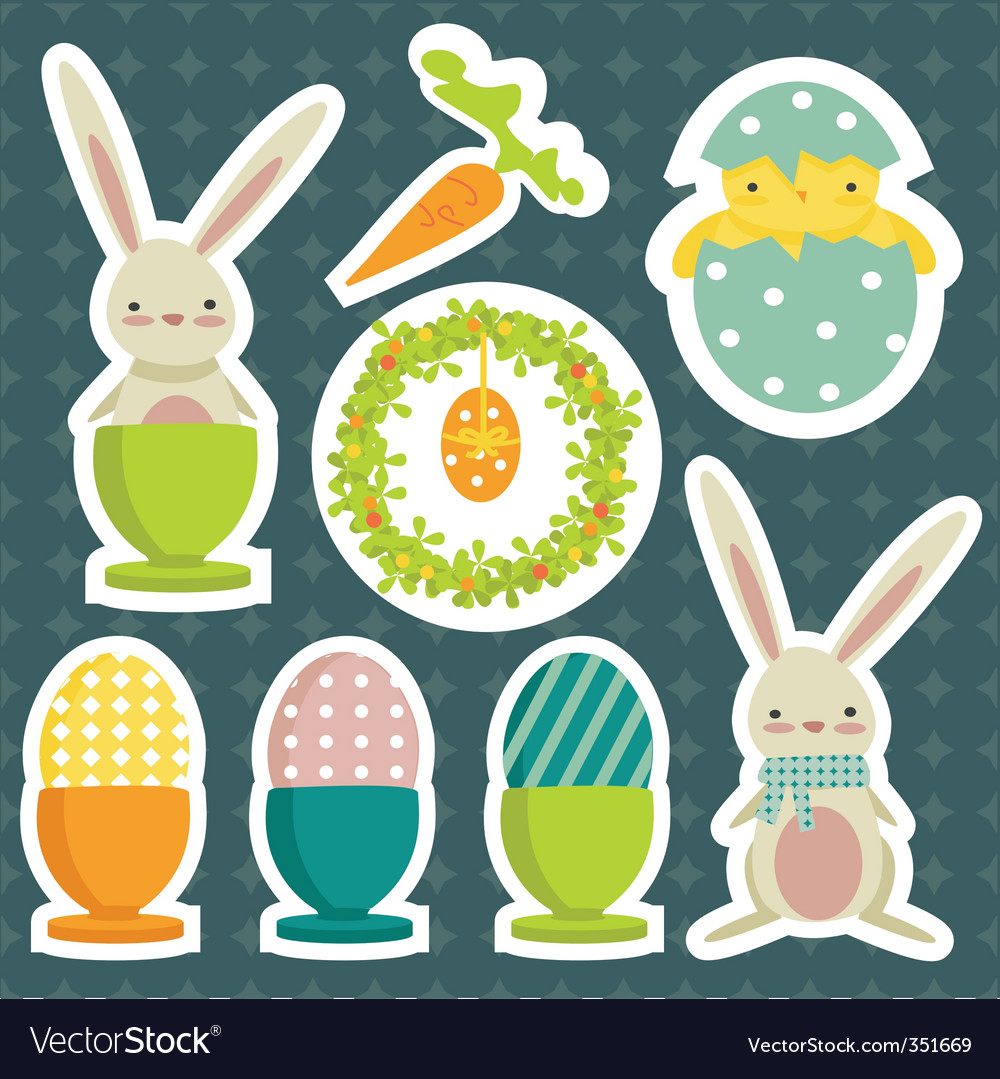 Easter stickers vector | Price: 1 Credit (USD $1)