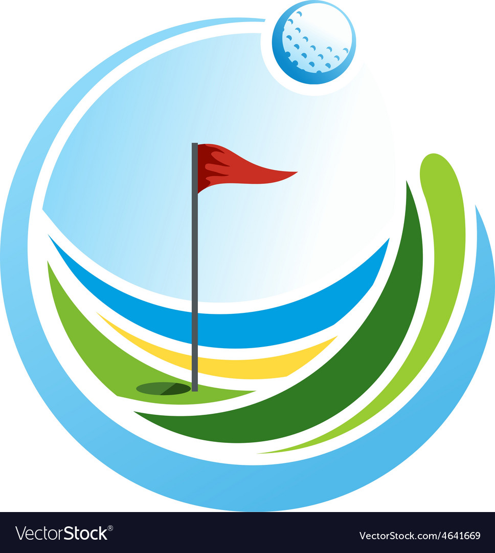 Golf emblem vector