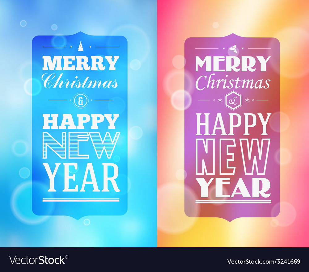 Holidays frame happy merry christmas - new year vector | Price: 1 Credit (USD $1)