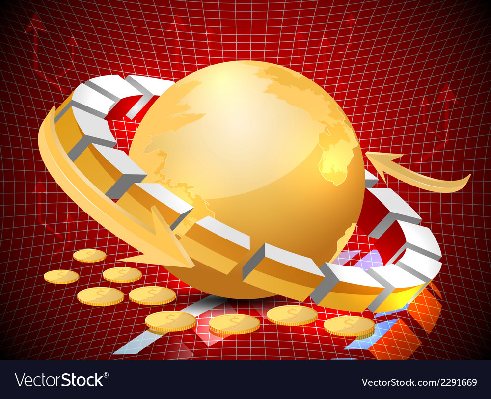 Investment world vector | Price: 1 Credit (USD $1)