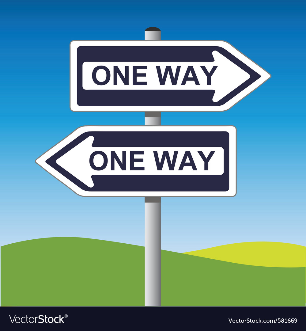 One way sign vector | Price: 1 Credit (USD $1)