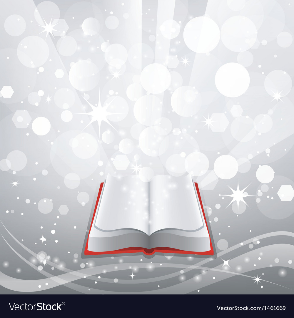 Open book on a gray background vector | Price: 3 Credit (USD $3)