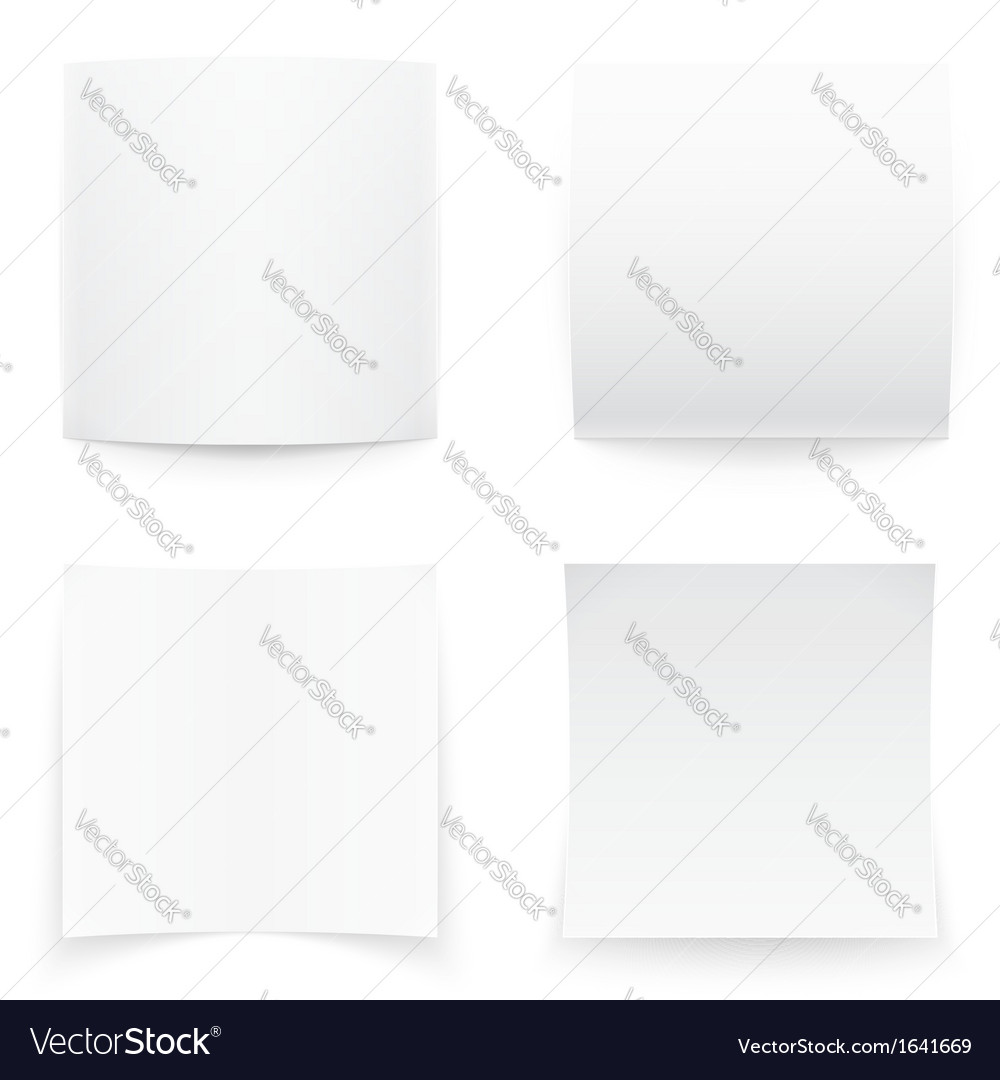 Paper banners on white background soft shadows vector | Price: 1 Credit (USD $1)