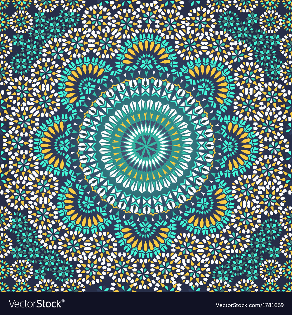 Seamless pattern in mosaic ethnic style vector | Price: 1 Credit (USD $1)