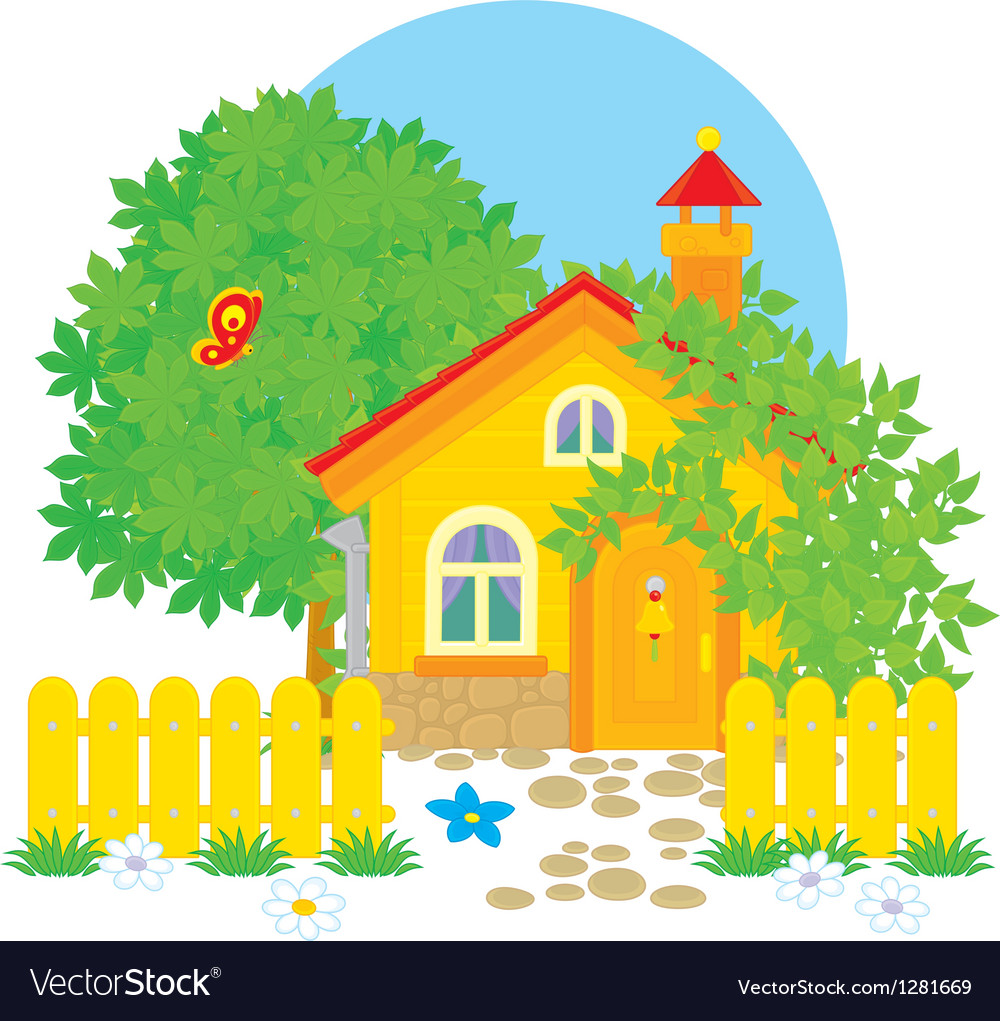 Village house vector | Price: 3 Credit (USD $3)