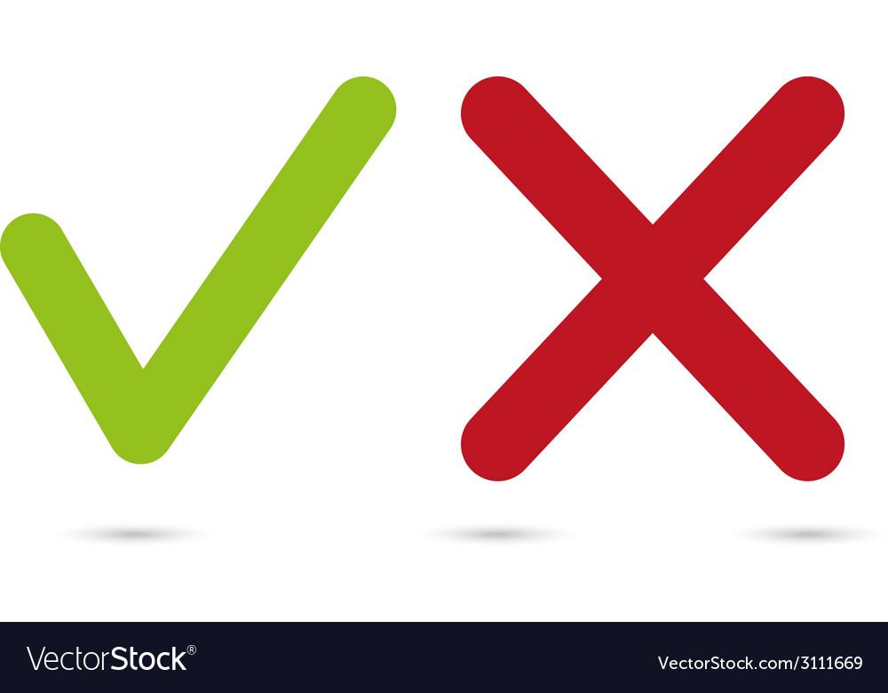 Yes or no symbols vector | Price: 1 Credit (USD $1)