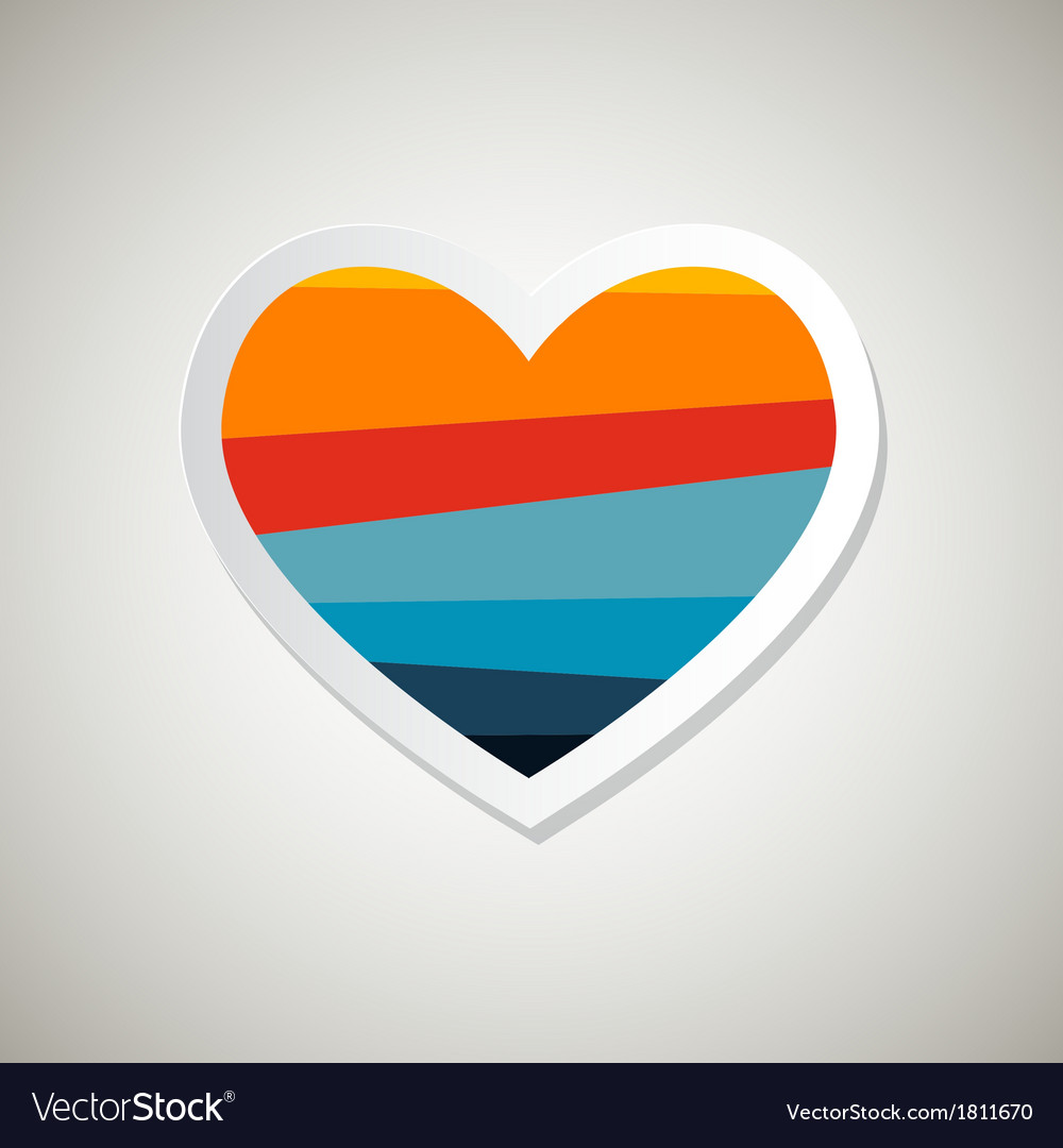 Abstract paper retro heart symbol vector | Price: 1 Credit (USD $1)