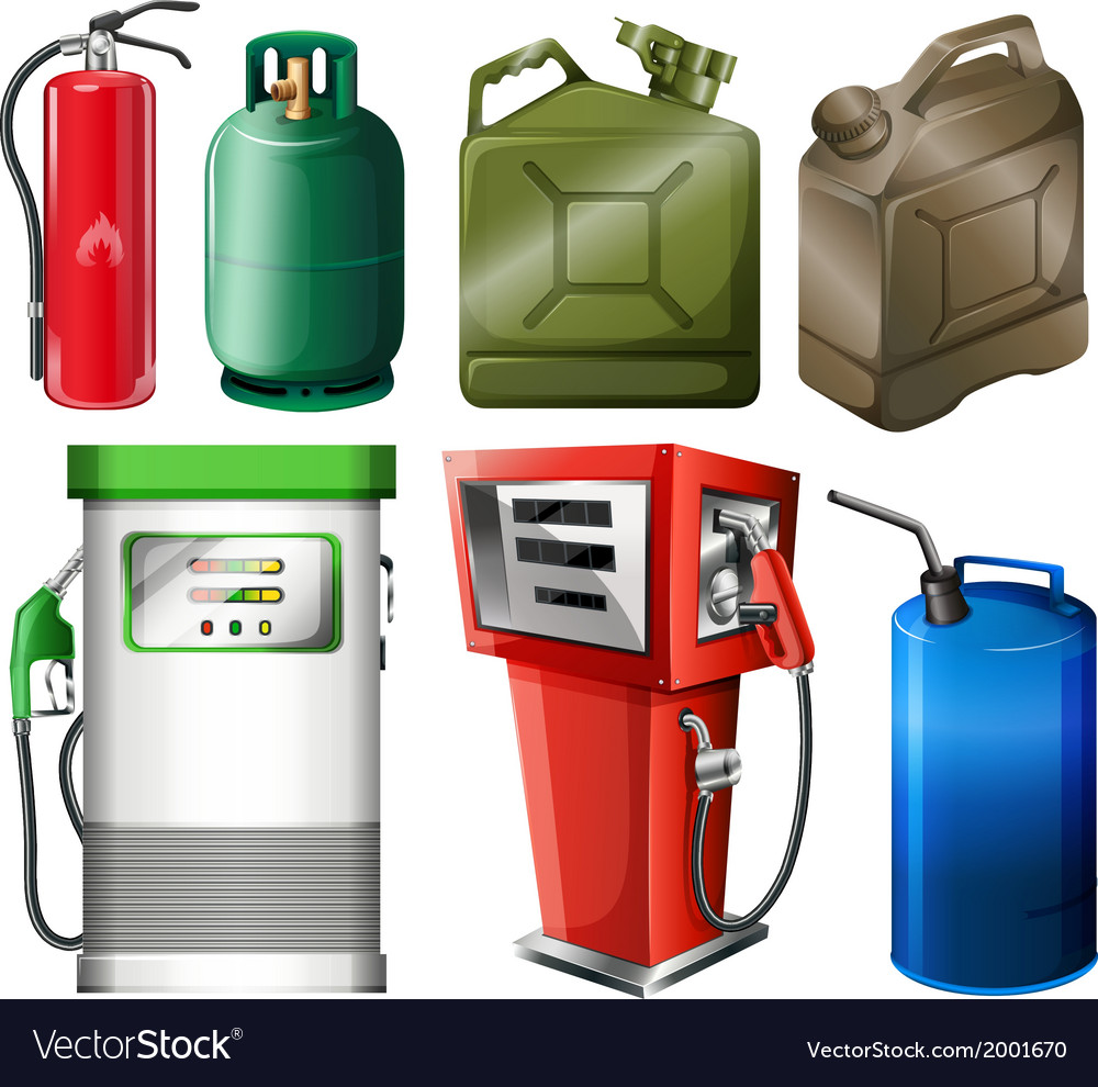 Different fuel containers vector | Price: 1 Credit (USD $1)