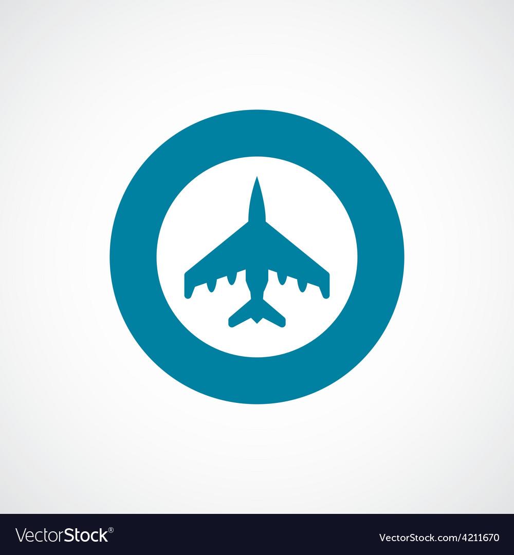 Fighter icon bold blue circle border vector | Price: 1 Credit (USD $1)