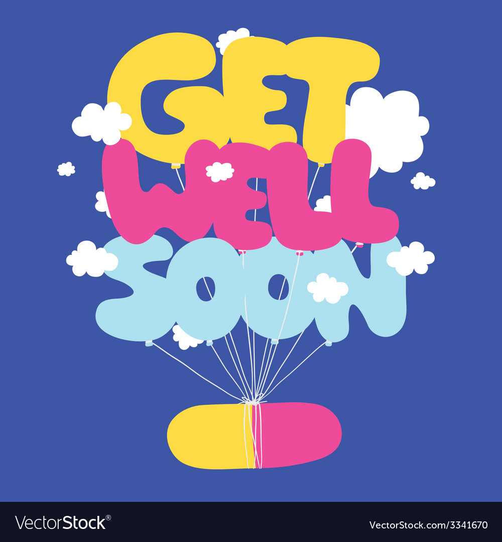 Get well soon postcard vector | Price: 1 Credit (USD $1)