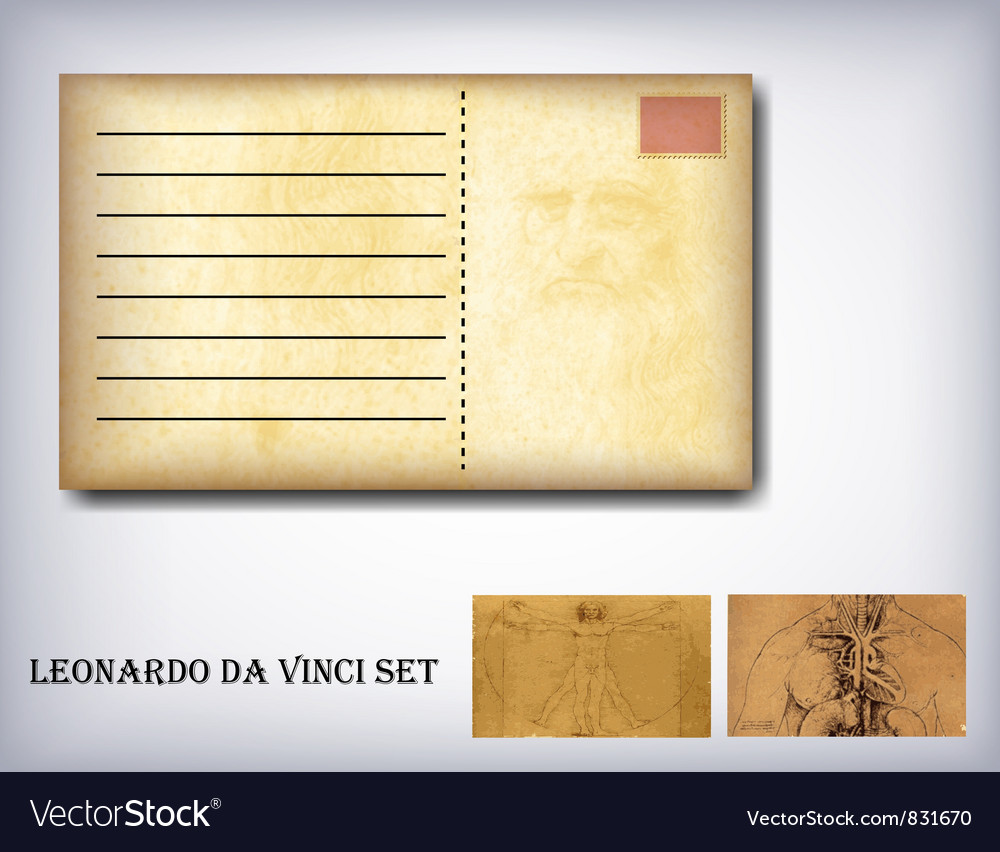 Leonardo da vinci set vector | Price: 1 Credit (USD $1)