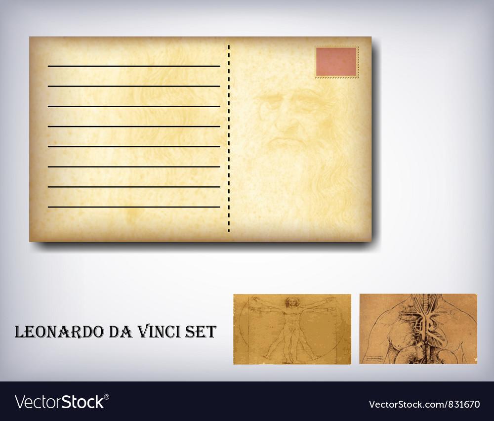 Leonardo da vinci set vector | Price: 1 Credit (USD $1)