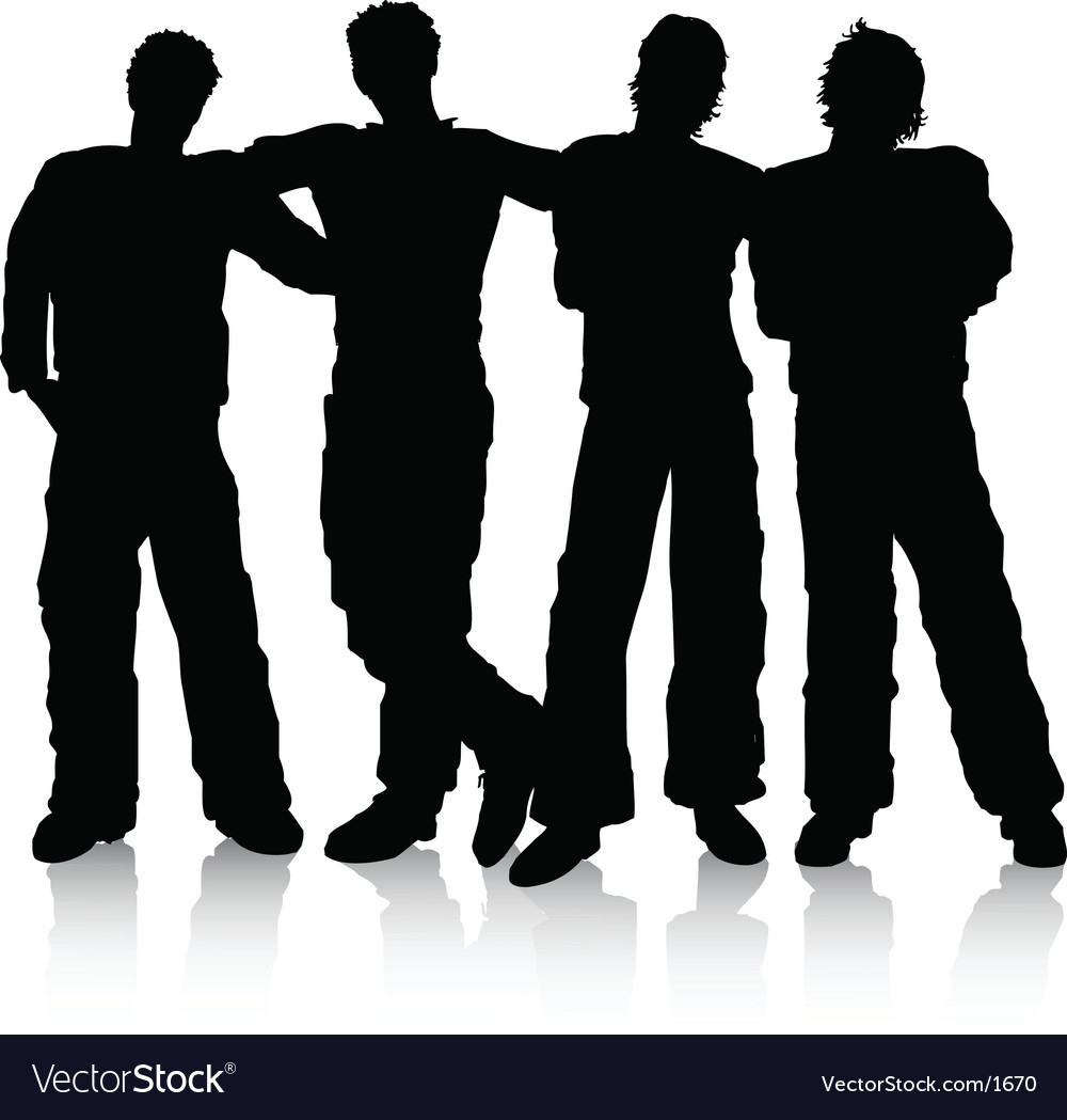 Male friends vector | Price: 1 Credit (USD $1)