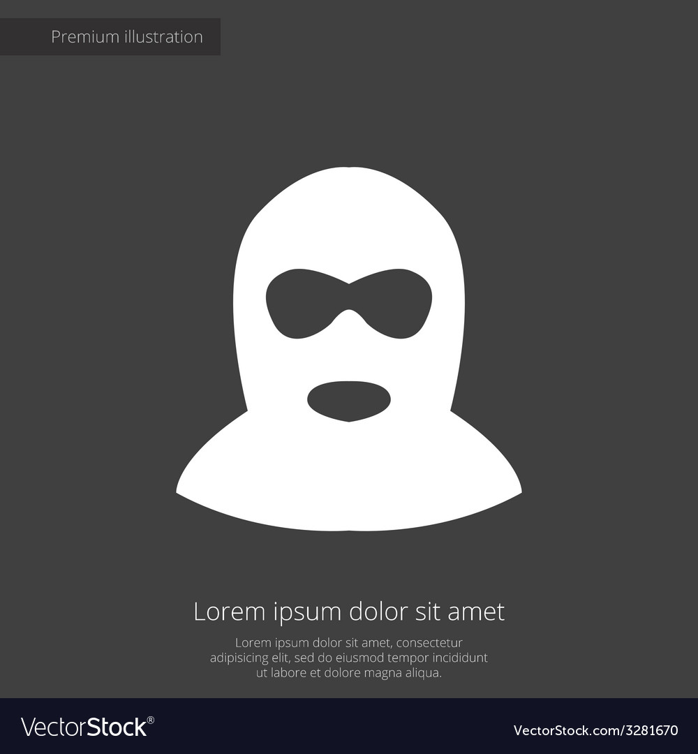 Offender premium icon white on dark background vector | Price: 1 Credit (USD $1)