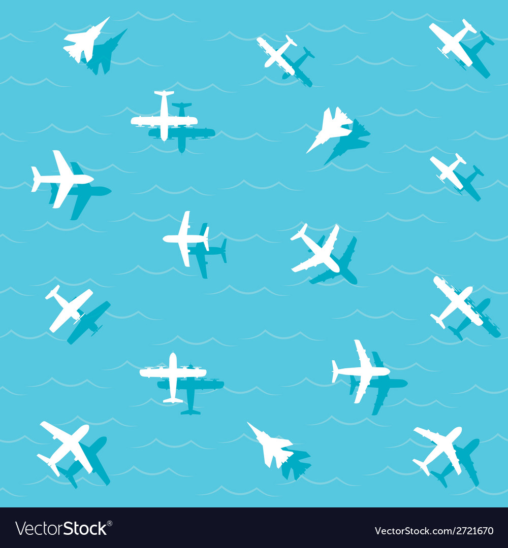 Planes fly vector | Price: 1 Credit (USD $1)