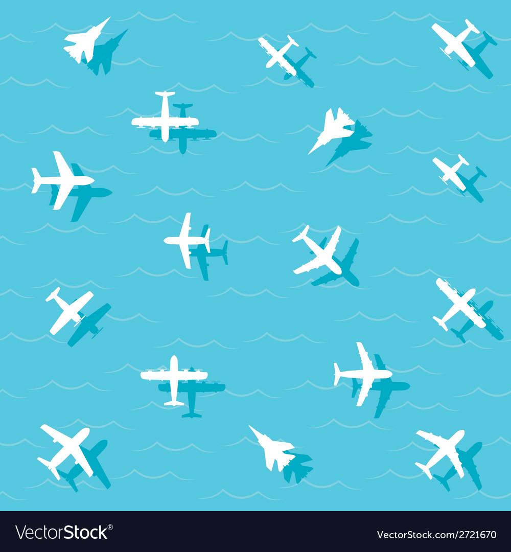Planes fly vector | Price: 1 Credit (USD $1)
