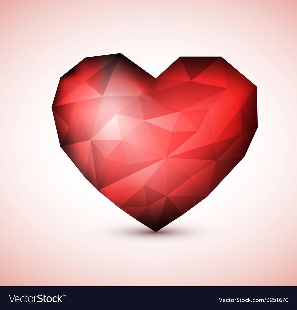Red diamond jewel heart vector | Price: 1 Credit (USD $1)