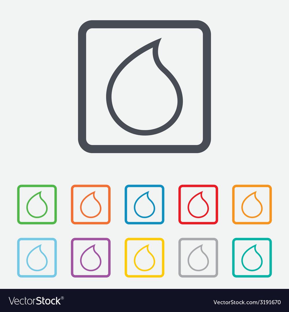 Water drop sign icon tear symbol vector | Price: 1 Credit (USD $1)